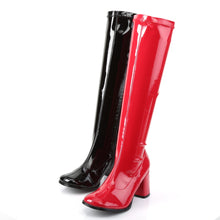 Load image into Gallery viewer, GOGO-300HQ Funtasma 3 Inch Heel Black and Red Women's Boots