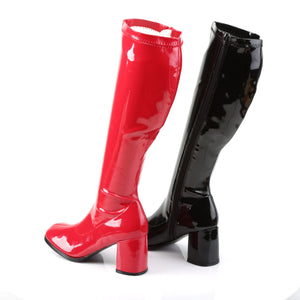 GOGO-300HQ Funtasma 3 Inch Heel Black and Red Women's Boots