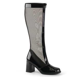 "GOGO-307 Funtasma 3"" Heel Black Stretch Patent Women's Boots"