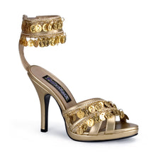 Load image into Gallery viewer, GYPSY-03 Funtasma 4 Inch Heel Gold Women's Sexy Shoes