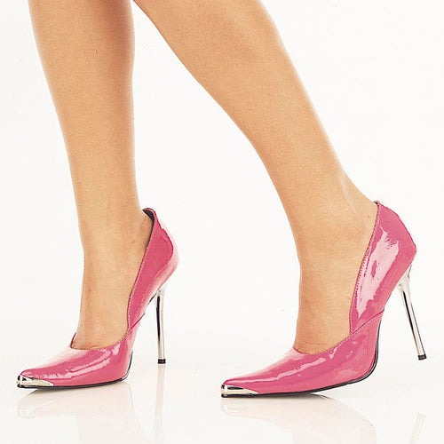 HEAT-01 Pleaser Sexy Shoes 4-1/2 Inch Spikes Chrome Metal Heel Shoes, - Miss Hollywood - 1
