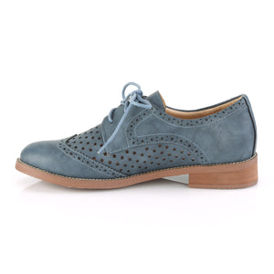HEPBURN-26 Pin Up 1 Inch Heel Stone Blue Fetish Footwear
