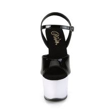 "Load image into Gallery viewer, ILLUMINATOR-709 7"" Heel BlackWhite Glow Pole Dancing Shoes"