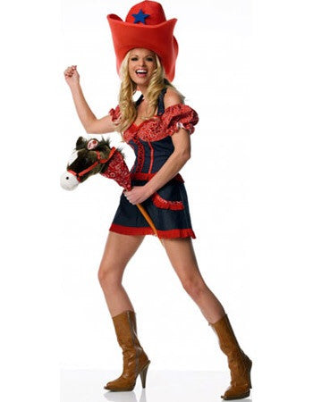 LA83105 Cowgirl Fancy Dress Costume Leg Avenue - Miss Hollywood