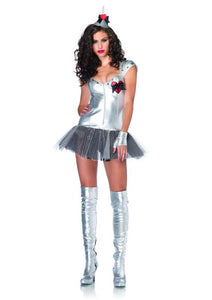 LA83848 Sexy Leg Avenue Tempting Tin Man Fancy Dress Costume - Miss Hollywood - 1
