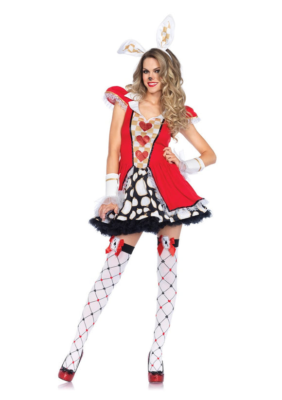 LA85447 Sexy Leg Avenue Tick Tock White Rabbit Fancy Dress Costume - Miss Hollywood - 1