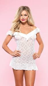Sexy LA86608 Sexy Lace Leg Avenue Chemise Mini Dress  Leg Avenue