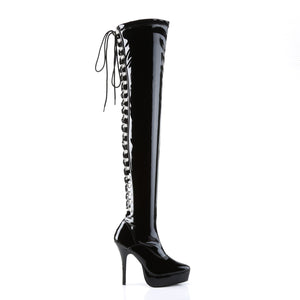 INDULGE-3063 Devious Fetish Footwear 5 Inch Heel Thigh Boots
