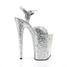 "Load image into Gallery viewer, INFINITY-910LG 9"" Heel Silver Glitter Pole Dancing Platforms"