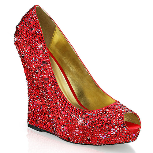 ISABELLE-18 Fabulicious 5 Inch Heel Red Satin Sexy Shoes