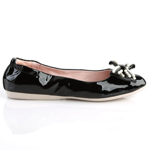 IVY-09 Pin Up Couture Black Patent Hollywood Glamour Shoes