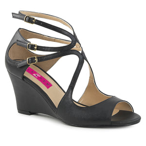 KIMBERLY-04 Pleaser Pink Label 3 Inch Heel Black Fetish Shoe