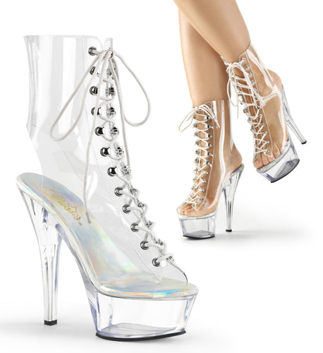 KISS-1016C Pleaser 6 Inch Heel Clear Pole Dancing Platforms-Pleaser- Sexy Shoes