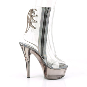 KISS-1018CT Pleaser Clear/Smoke Tinted Platforms (Exotic Dancing)