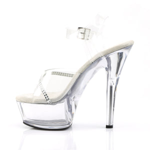 KISS-208R Pleaser 6 Inch Heel Clear Pole Dancing Platforms