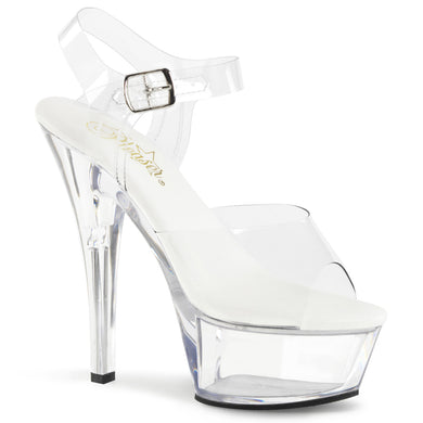 KISS-208VL Vegan Leather Insole Pleaser Sexy Shoes 6 Inch Heel Platform Sandals - Miss Hollywood