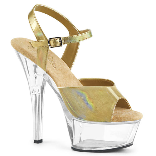 Sexy KISS-209BHG Pleaser Sexy Shoes 6 Inch Heel, 1 3/4 Inch Platforms Ankle Strap Holographic Sandals  Pleaser