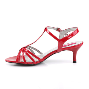 "KITTEN-06 Pleaser Pink Label 2.5"" Heel Red Fetish Footwear"