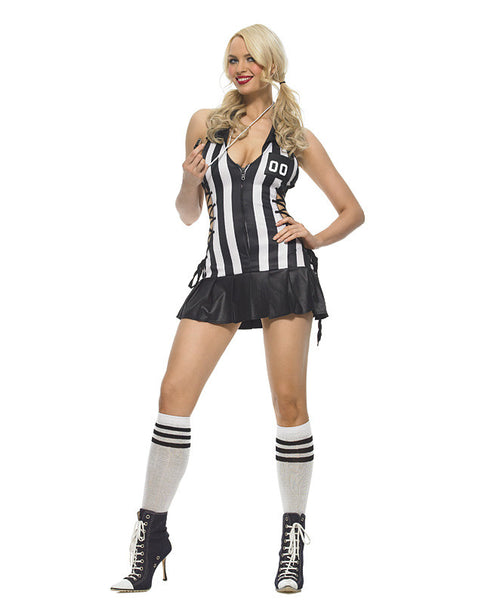 LA83412 Sexy 3 pc Half Time Referee Fancy Dress Costume - Miss Hollywood