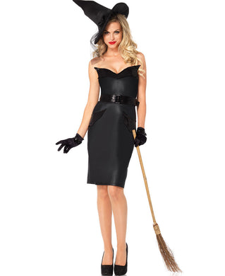 LA85239 Sexy Leg Avenue VINTAGE WITCH Fancy Dress Costume - Miss Hollywood