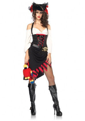 LA83772 Sexy Leg Avenue Saucy Wench Fancy Dress Costume - Miss Hollywood