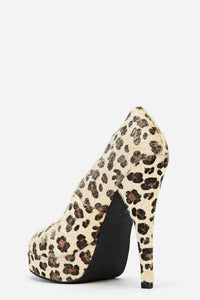 Leopard Print Platform High Heel Shoes-Shoes-Miss Hollywood-7 uk (40 Europe - 10 Usa)-Brown-Miss Hollywood Sexy Shoes High Heels