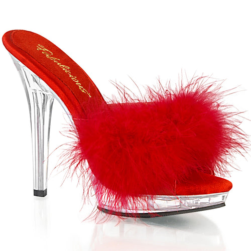 LIP-101-8 Fabulicious 5 Inch Heel Red Satin Sexy Shoes