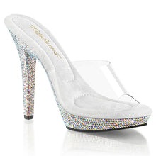 "Load image into Gallery viewer, LIP-101DM Fabulicious 5"" Heel Clear Bling Posing Comp Heels"
