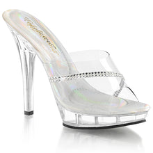 Load image into Gallery viewer, LIP-101R Fabulicious 5 Inch Heel Clear Posing High Heels