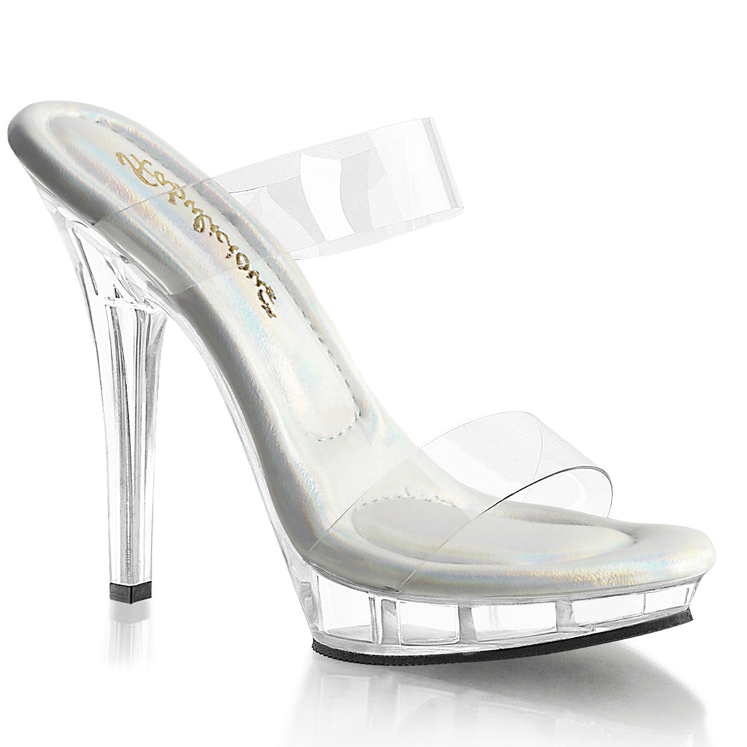 LIP-102-1 Fabulicious 5 Inch Heel Clear Posing Sandals