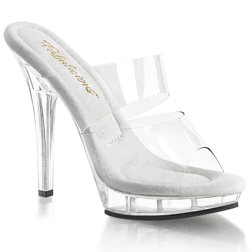 LIP-102 Fabulicious 5 Inch Heel Clear Competition Shoes