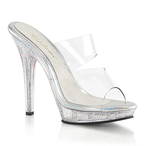 LIP-102MG Fabulicious 5 Inch Heel Clear Posing Shoes