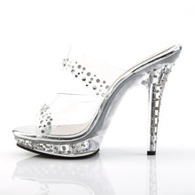 Load image into Gallery viewer, LIP-102RS Fabulicious 5 Inch Heel Clear Posing Comp Sandals