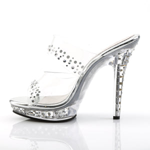 LIP-102RS Fabulicious 5 Inch Heel Clear Posing Comp Sandals