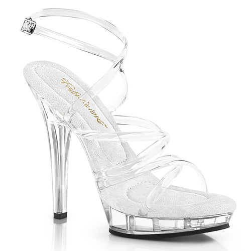 LIP-106 Fabulicious 5 Inch Heel Clear Posing Comp Shoes