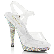 "Load image into Gallery viewer, LIP-108DM Fabulicious 5"" Heel Clear Rhinestones Sexy Shoes"