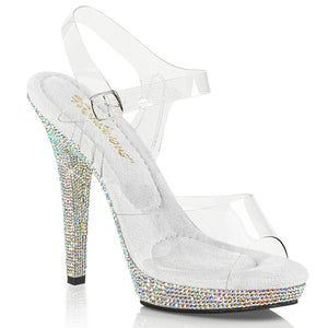 LIP-108DM Fabulicious Sexy 5 Inch Heel Rhinestone Platforms Ankle Strap Sandals Shoes