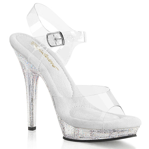 LIP-108MG Fabulicious 5 Inch Heel Clear Competition Heels