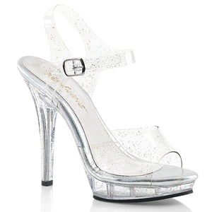 LIP-108MMG Fabulicious Sexy 5 Inch Heel Glitter Platforms Ankle Strap Sandals Shoes