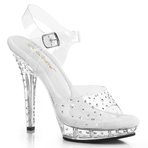 LIP-108RS Fabulicious 5 Inch Heel Clear Competition Shoes