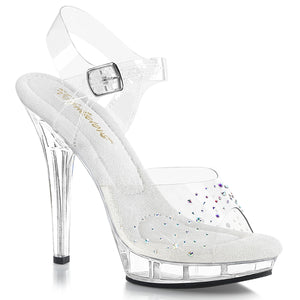 LIP-108SD Fabulicious Sexy 5 Inch Heel Platforms Ankle Strap Rhinestone Sandals Shoes