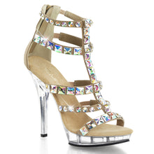 Load image into Gallery viewer, LIP-158 Fabulicious Sexy Shoes 5 Inch Heel, 3/4 Inch Platforms Jeweled T-Strap Sandals, Back Zip - Miss Hollywood - 2