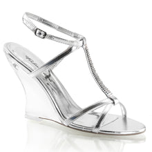 Load image into Gallery viewer, LOVELY-428 Fabulicious 4 Inch Heel Silver Sexy Shoes