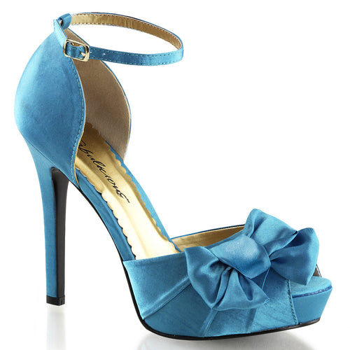 LUMINA-36 Fabulicious 5 Inch Heel Blue Satin Sexy Shoes
