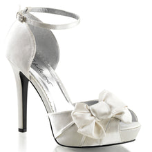 Load image into Gallery viewer, LUMINA-36 Fabulicious 5 Inch Heel Ivory Satin Sexy Shoes
