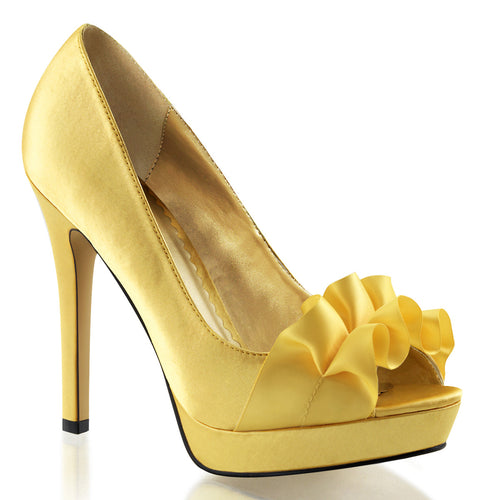 LUMINA-42 Fabulicious 5 Inch Heel Yellow Sexy Shoes