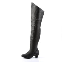 "Load image into Gallery viewer, MAIDEN-8828 Funtasma 2.5"" Heel Black Leather Women's Boots"