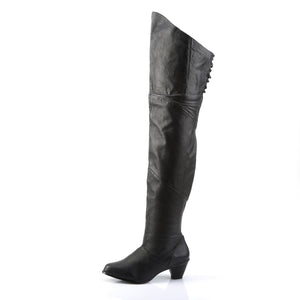 "MAIDEN-8828 Funtasma 2.5"" Heel Black Leather Women's Boots"