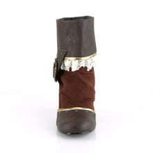 "Load image into Gallery viewer, MATEY-115 Funtasma 3"" Heel Brown Distressed Pu Women's Boots"