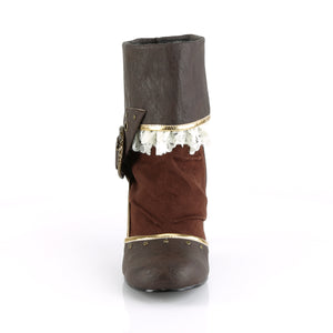 "MATEY-115 Funtasma 3"" Heel Brown Distressed Pu Women's Boots"
